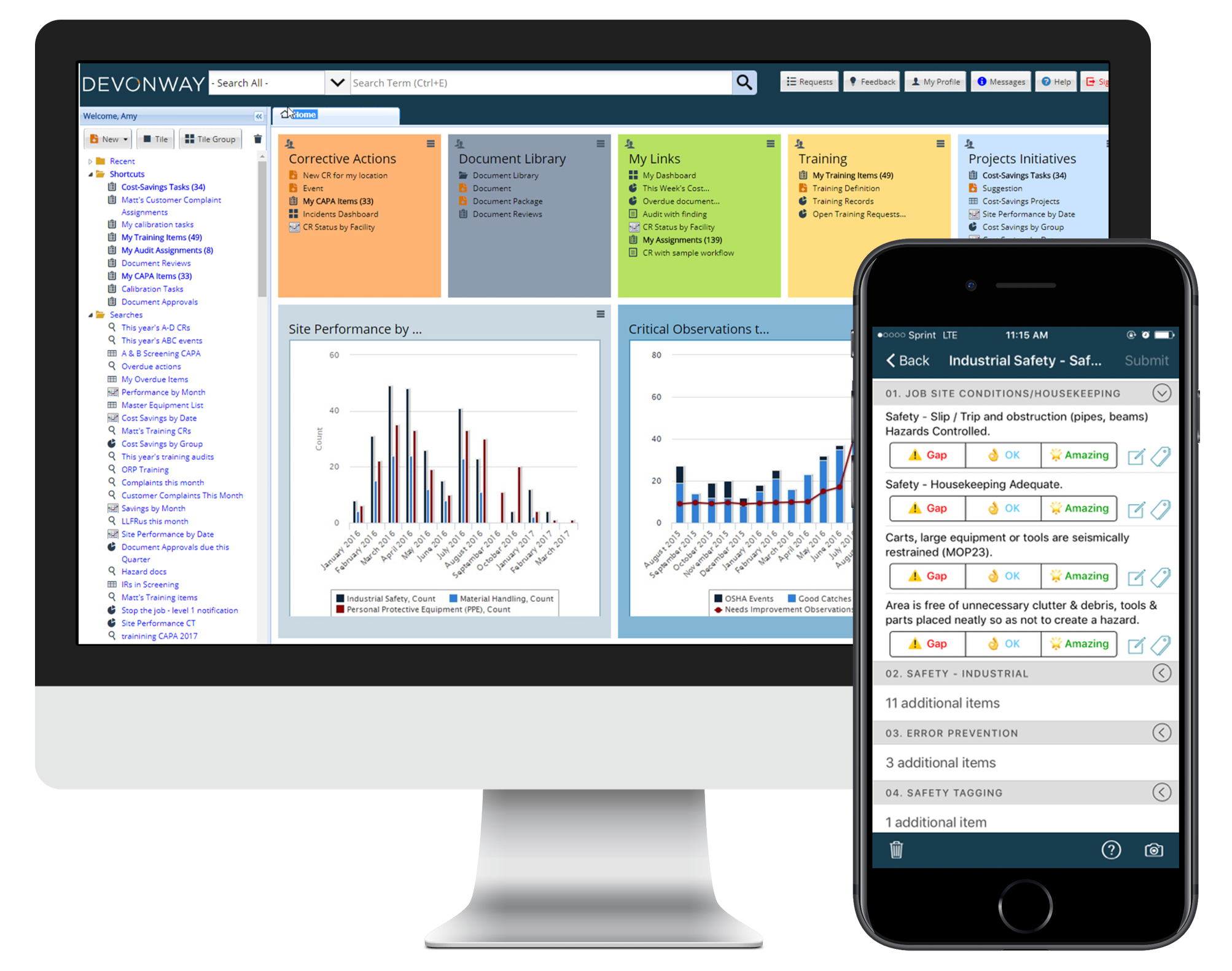 devonway dashboard and mobile